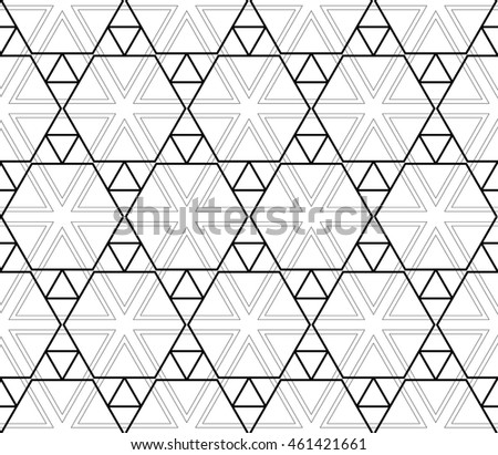 seamless sophisticated geometric pattern based on repetitive simple forms. vector illustration. for interior design, backgrounds, card, textile industry. black and white coloring