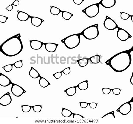 Seamless spectacles, glasses pattern, eyeglasses, specs pattern. Sunglasses - stock vector