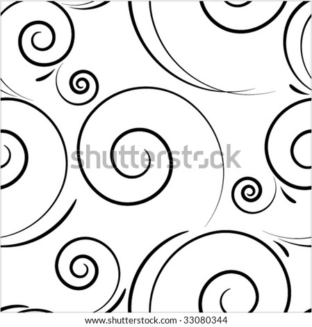 seamless spiral background - stock vector