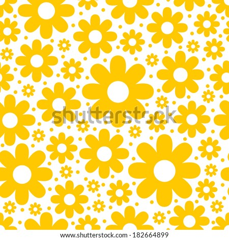 Seamless spring background with chamomile. Good for Easter. - stock vector