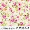 seamless spring cute tiny vintage floral ,flower pattern background - stock photo
