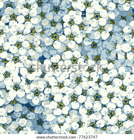 seamless spring flowers background - stock vector