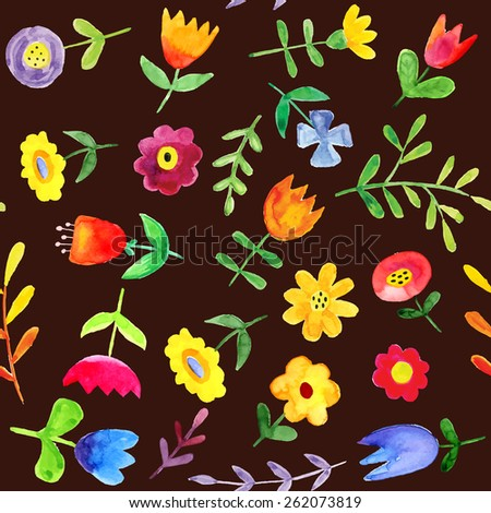 Seamless spring pattern - stock vector