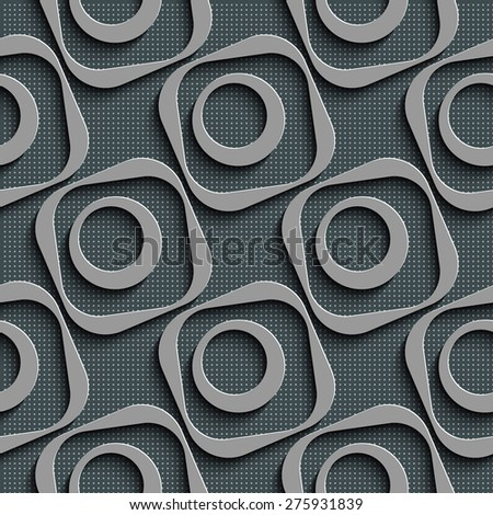 Seamless Square and Circle Pattern. Vector Regular Texture - stock vector