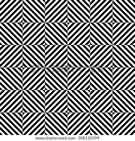 Seamless Square and Stripe Pattern. Vector - stock vector
