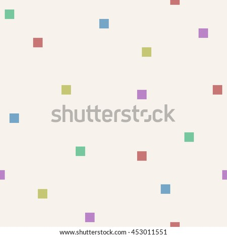 Seamless square mosaic pattern. - stock vector