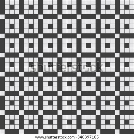 Seamless square pattern. Geometric pattern. Victorian floor grayscale vector pattern.