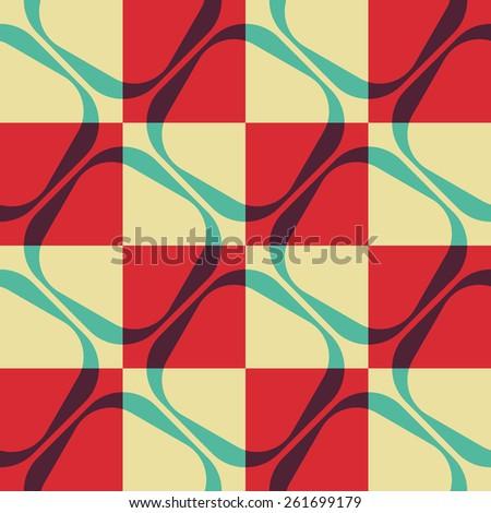 Seamless Square Pattern. Vector Regular Texture - stock vector