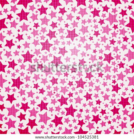 Seamless star texture - stock vector