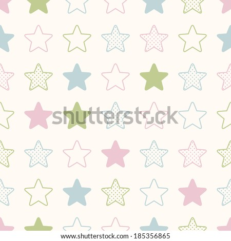seamless stars background print - stock vector
