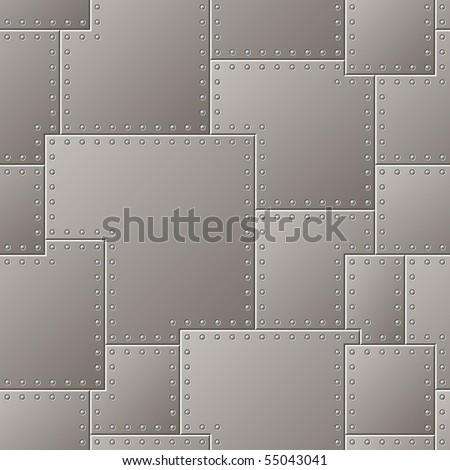 Seamless Steel Plate Pattern - stock vector