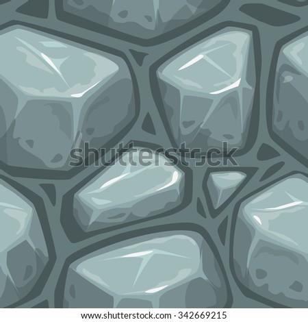 Seamless stone pattern, rock endless texture - stock vector