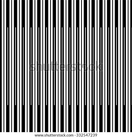 Seamless stripe pattern. Abstract monochrome background. Vector regular texture