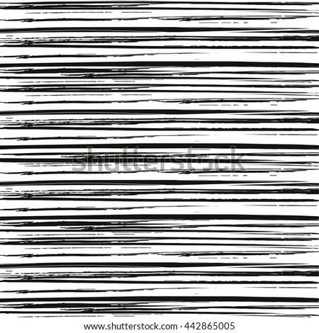 Set Ink Hand Drawn Textures Lines Stock Vector 224133805