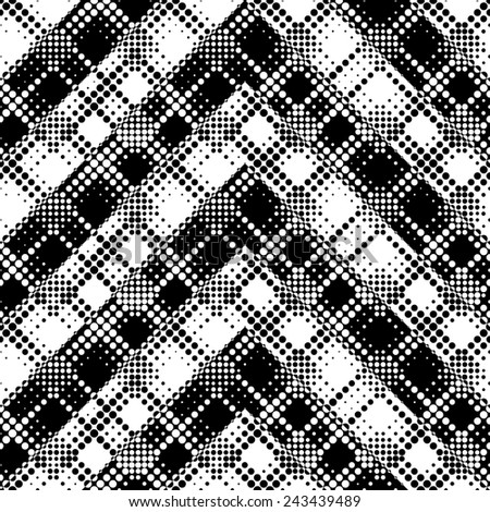 Seamless Stripe Pattern. Vector Geometric Background. Regular Black and White Texture