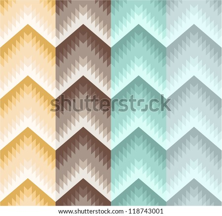 Seamless stripe zigzag pattern - stock vector