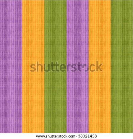 Seamless striped fabric pattern (background, wallpaper, swatch) of Halloween, Thanksgiving or autumn colors