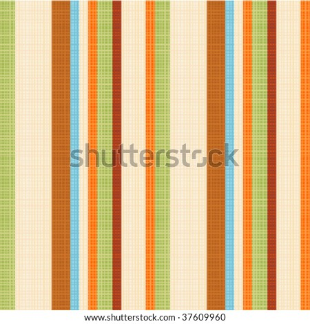 Seamless striped fabric vector pattern (background, wallpaper, swatch). You see 4 tiles. Flat colors used, threads accurately matched on their ends.