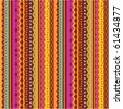 Seamless stripes and laces retro syle vector pattern of autumn colors ( for high res JPEG or TIFF see image 61434874 )  - stock vector