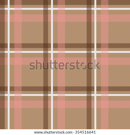 Seamless stripped fabric pattern. Retro textile collection. Beige, pink, white. Backgrounds & textures shop. - stock vector