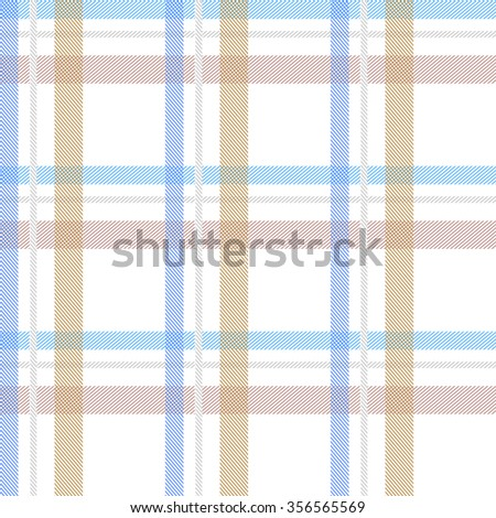 Seamless stripped fabric pattern. Retro textile collection. Blue, beige, white. Backgrounds & textures shop. - stock vector