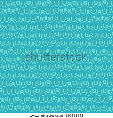 Seamless stylish hand drawn waves pattern. Vector illustration - stock vector