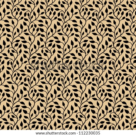 Seamless stylish leaf pattern. Vector illustration - stock vector