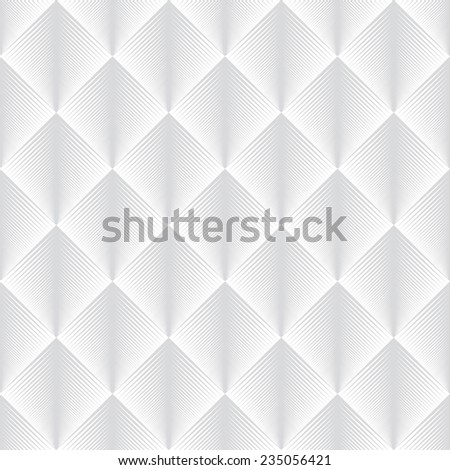 Seamless subtle gray optical illusion feather pattern vector - stock vector