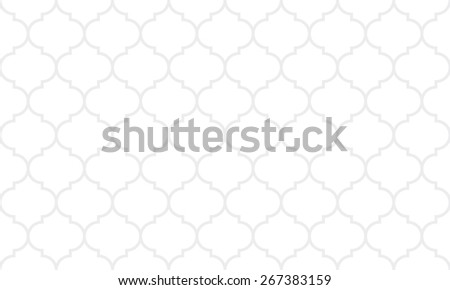 Seamless subtle gray wide moroccan pattern vector - stock vector
