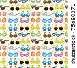 seamless Sunglasses pattern - stock vector