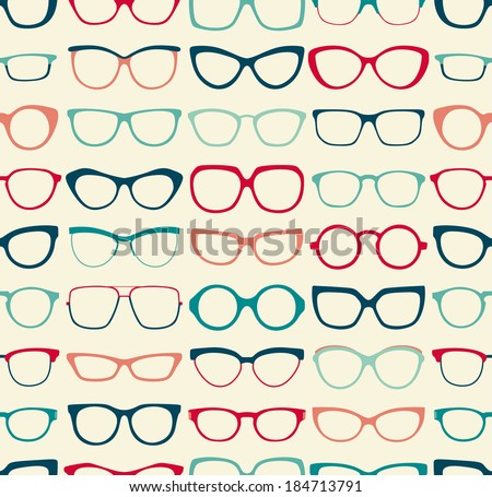 seamless sunglasses pattern - stock vector
