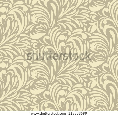 Seamless swirl pattern. Abstract luxury illustration - stock vector