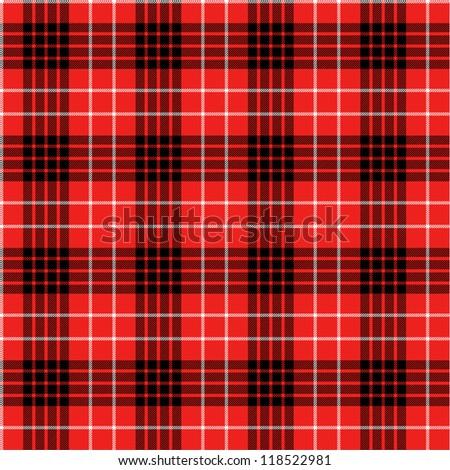 Seamless tartan pattern - stock vector