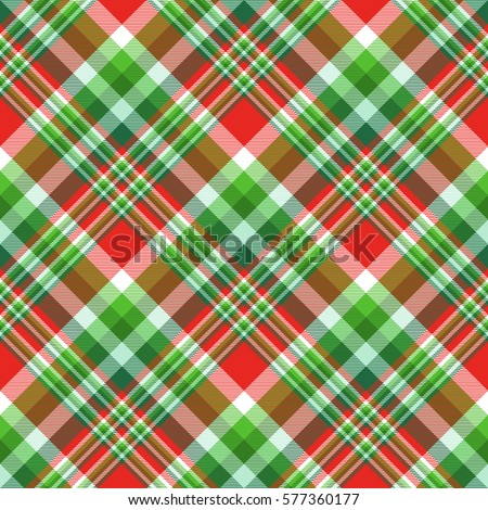Checkered Fabric Twill Texture Design In Stripes Of Bright Red