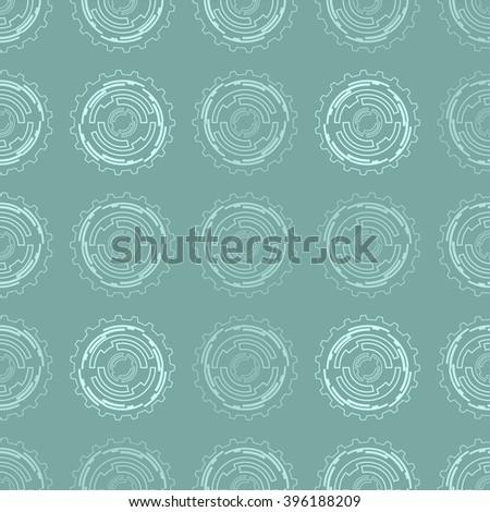 Seamless techno color pattern. Vector illustration - stock vector