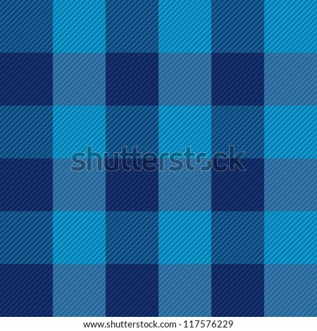 Seamless textile blue pattern - stock vector