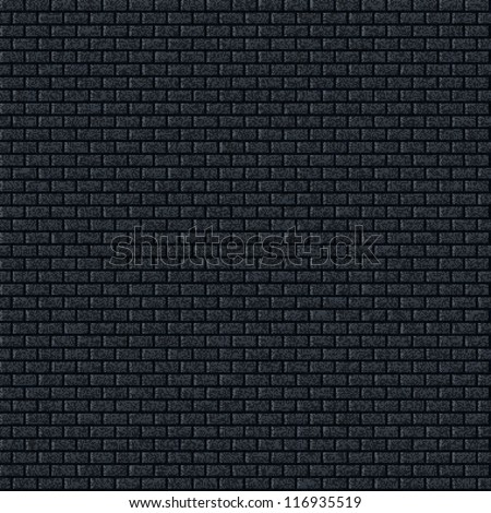 Seamless texture brick wall pattern dark gray background with noise grain effect. Contemporary swatch simple modern style. This clip-art vector illustration web internet design elements saved 10 eps - stock vector