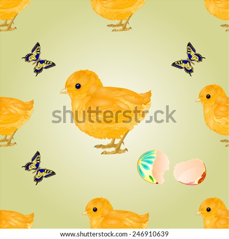 Seamless texture Easter chick Easter background vector illustration - stock vector
