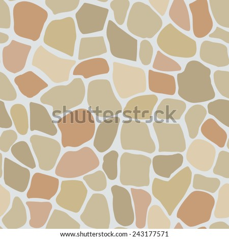 seamless texture masonry, vector illustration - stock vector