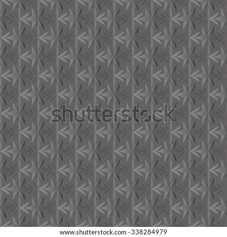 Seamless texture of dark grey. 3D effect. Six-pointed star.  Vector  EPS8. - stock vector