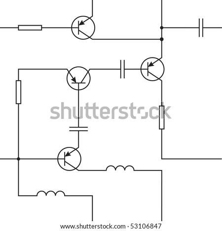 circuit diagram symbols stock vectors vector clip art. Black Bedroom Furniture Sets. Home Design Ideas