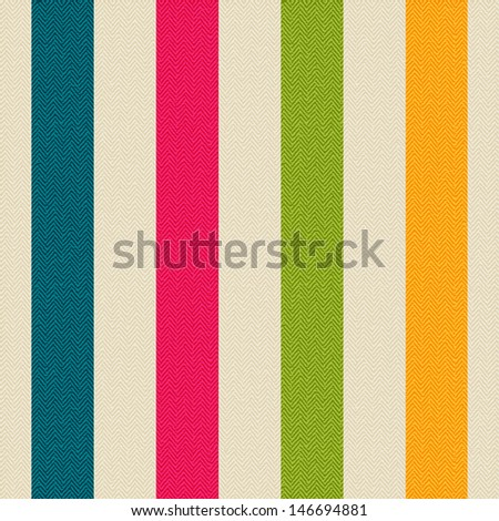 Seamless texture of fabric with colored strips