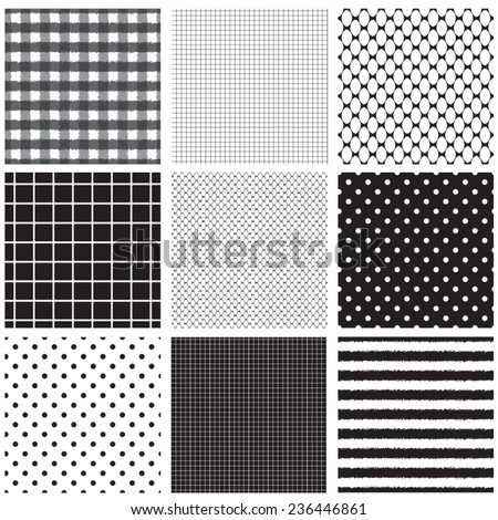 seamless texture of grunge cells - stock vector