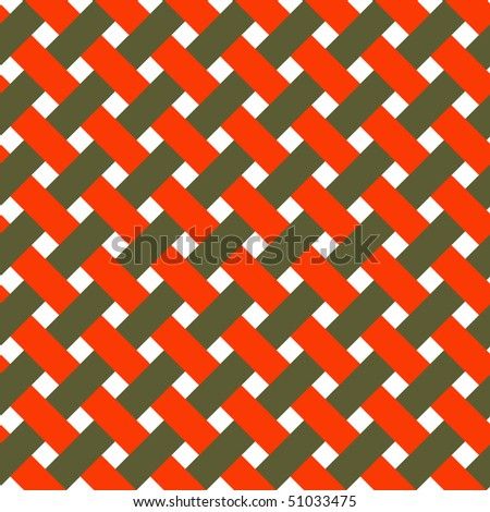 Seamless texture of intertwined color strings, vector