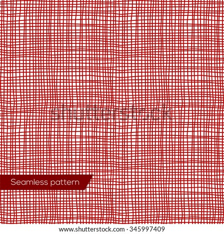 Seamless texture of red canvas vector eps 10 - stock vector