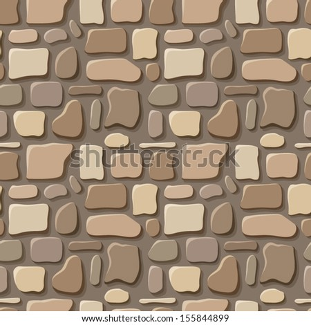 Seamless texture of stone wall. Vector illustration. - stock vector