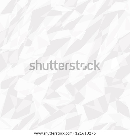 seamless texture of white crumpled paper - stock vector