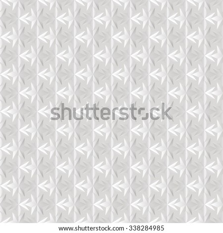 Seamless texture of white. 3D effect. Six-pointed star.  Vector  EPS8. - stock vector