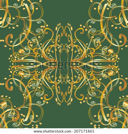 Seamless texture on green background. Vector illustration. Seamless pattern for your design wallpapers, pattern fills, web page backgrounds, surface textures.