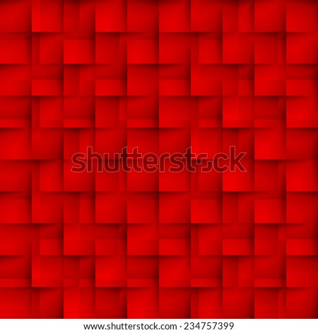 Seamless texture pattern of red color in the form of cells - stock vector